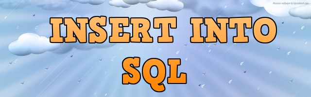 sql запрос INSERT INTO