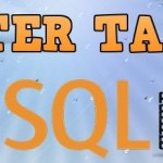 SQL ALTER TABLE — sql запрос на модификацию таблицы базы данных