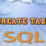 SQL запрос для создания таблицы базы данных — оператор CREATE TABLE
