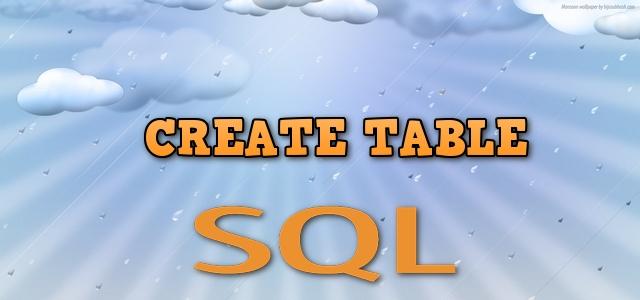 SQL запрос для создания таблицы